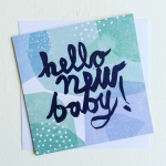 New Baby Boy Card