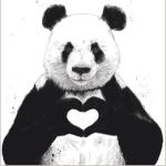 I Heart You Panda Card